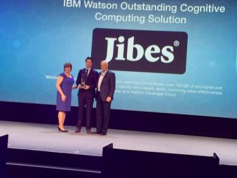 Jibes wint IBM Beacon Award Watson Outstanding Cognitive Computing Solution