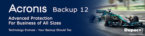 Launch event Acronis Backup Advanced 12