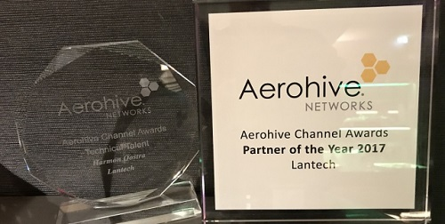 Lantech is Aerohive Networks Technical Talent en Partner of the Year